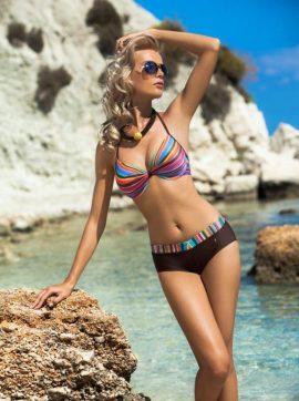 Bunt gestreifter Bikini-Bis zu -50% im Sommer-Sale