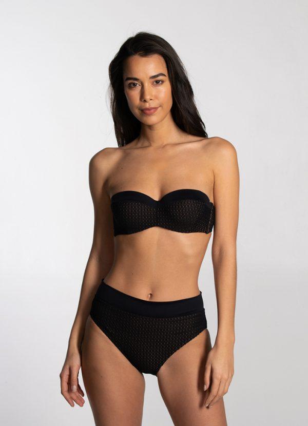 Bikinihose mit hoher Taille